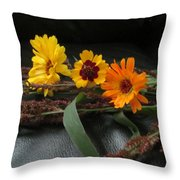 Shades Of Yellow Throw Pillow