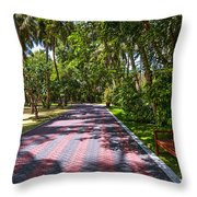 Shadow Alley In Sun Island Resort. Maldives  Throw Pillow