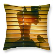 Shadow Bird Throw Pillow