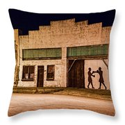 Shadow Boxing Throw Pillow by Gary Holmes