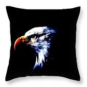 Shadow Eagle Throw Pillow