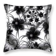 Shadow Flowers Throw Pillow