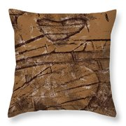 Shadow Heart Chalk Sketch On Brown Paper Throw Pillow