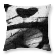 Shadow Heart Graphite Drawing Throw Pillow