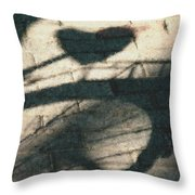 Shadow Heart Pastel Chalk 2 Throw Pillow