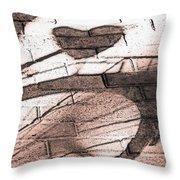 Shadow Heart Pink Powder Throw Pillow