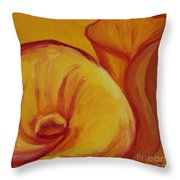 Shadow Lily Throw Pillow