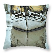 Shadow Of Boat Throw Pillow