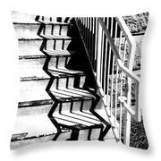 Shadow Of Handrail Throw Pillow