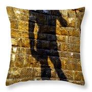 Shadow Of Michaelangelo's David Throw Pillow