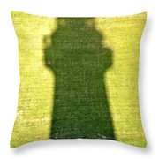 Shadow Of Tybee Lighthouse Throw Pillow