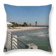 Shadow On The Pier Throw Pillow
