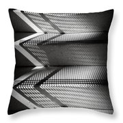 Shadow Play - Black And White Throw Pillow