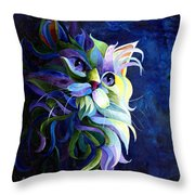 Shadow Puss Throw Pillow