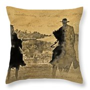 Shadow Riders Throw Pillow