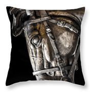 Shadow Steed Throw Pillow