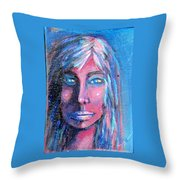 Shadow Woman Throw Pillow