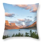 Shadowing Goose Island Throw Pillow