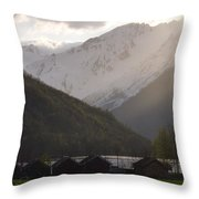 Shadowing The Peaks Throw Pillow