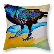 Shadowland Visitor Throw Pillow