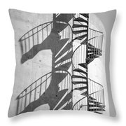 Shadowplay- Spiral Stairs Throw Pillow