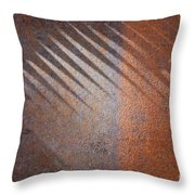 Shadows And Rust Throw Pillow