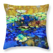 Shadows And Sunspots Throw Pillow