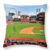 Shadows At Busch Throw Pillow