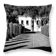 Shadows At Clos Pegase Winery Throw Pillow