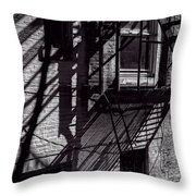 Shadows Throw Pillow by Bob Orsillo