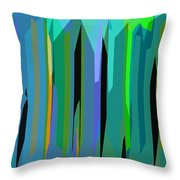 Shadows In The City Throw Pillow