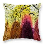 Shadows In The Grove Throw Pillow