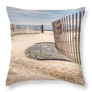 Shadows In The Sand II Throw Pillow
