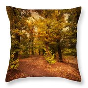 Shadows Of Forest Throw Pillow
