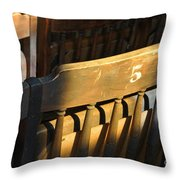 Shadows On Chairs Throw Pillow