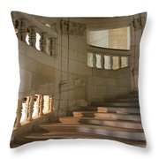Shadows On Chateau Chambord Stairs Throw Pillow