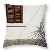 Shadows On Old House. Throw Pillow