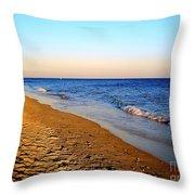 Shadows On Sand Beach Throw Pillow