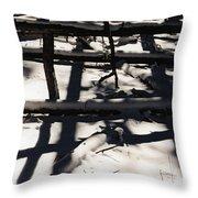 Shadows On Table Mountain Throw Pillow