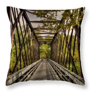 Shadows On The Walking Bridge Throw Pillow