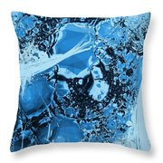 Shadows Under Ice Throw Pillow