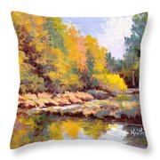 Shadowy Creek Throw Pillow