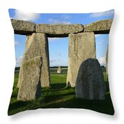 Shadowy Stonehenge Throw Pillow