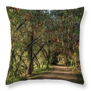 Shady Path Throw Pillow