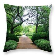 Shady Path Throw Pillow