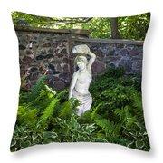 Shady Perennial Garden Throw Pillow