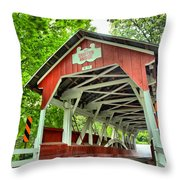 Shafer Covered Bridge Throw Pillow