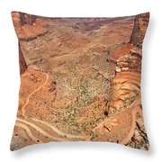 Shafer Trail Throw Pillow by Adam Romanowicz