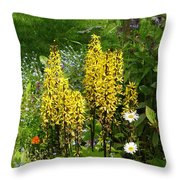 Shafts Of Yellow Throw Pillow