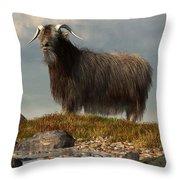 Shaggy Goat Throw Pillow